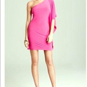 Trina Turk hot pink one shoulder dress size 2 or 4